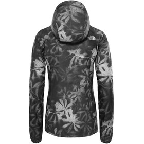 The North Face Flyweight Hoodie Women TNF Black Exploded Lupine Print